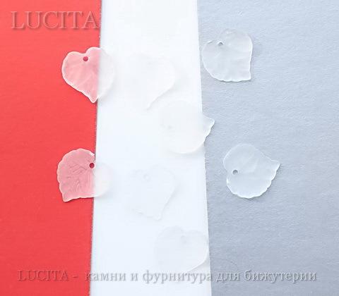 Акриловый листик прозрачно-белый 16х15 мм ,10 штук ()