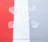 Акриловый листик прозрачно-белый 16х15 мм ,10 штук