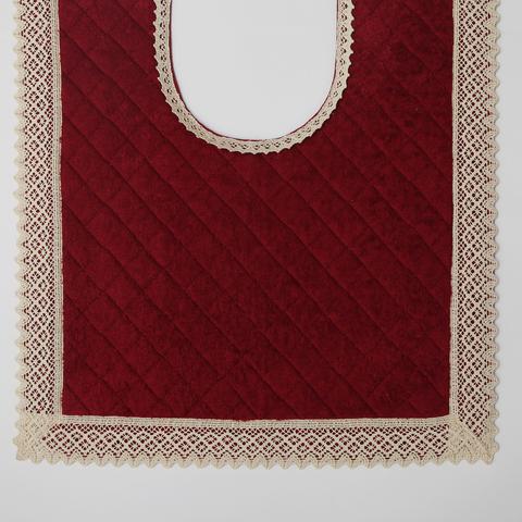 Элитный коврик для унитаза Rombetti бордовый от Old Florence