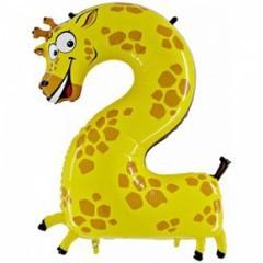 Цифра, 2 Жираф, в упаковке, (40