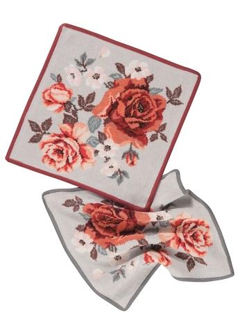 Элитная салфетка шенилловая Cinnamon Rose 212 grau от Feiler