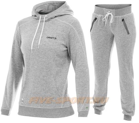 Костюм спортивный женский Craft In The Zone hood grey для бега