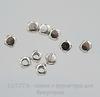 Бусина металлическая кубическая (цвет - античное серебро) 4х4 мм, 10 штук ()