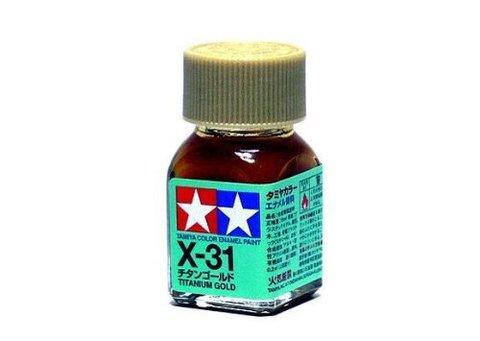 X-31 Краска Tamiya Титан Золотистая (Titanium Gold), эмаль 10мл