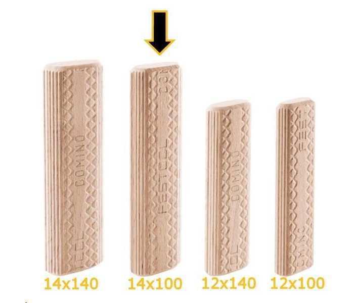 Дюбель для фрезера D 14x100/80 BU Festool 498218