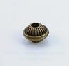 Бусина металлическая - шарик с ободком 7х6 мм (цвет - античная бронза), 10 штук