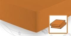 Элитная простыня трикотажная 8000 персиковая от Elegante