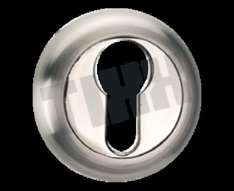 Фурнитура - Накладка На Цилиндр  TIXX ЕТ 04, цвет никель матовый/блестящий
