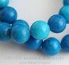Бусина Говлит (тониров), шарик, цвет - сине-голубой, 10 мм, нить