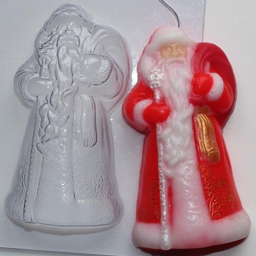 Дед мороз форма для мыла