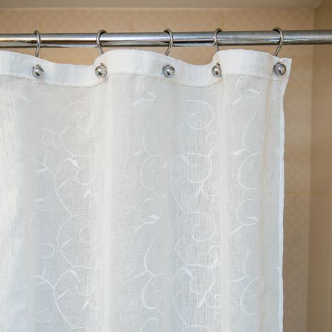 Элитная шторка для ванной 180х200 Bordado Flor от Arti-Deco