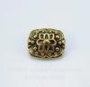 """Бусина металлическая плоская """"Цветы"""" (цвет - античное золото) 13х11 мм"""