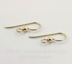 Швензы-крючки TierraCast с шариком 20х8 мм (цвет-золото), Gold filled 14K, пара