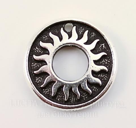 """Подвеска TierraCast """"Солнце"""" (цвет-античное серебро) 19 мм"""