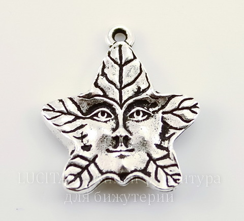 """Подвеска TierraCast """"Лесной дух"""" (цвет-античное серебро) 22х19 мм"""