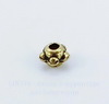 Бусина металлическая (цвет - античное золото) 4х3 мм, 20 штук