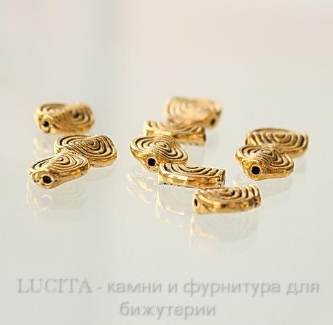 """Бусина металлическая """"Спираль"""" (цвет - античное золото) 12х11 мм, шт ()"""