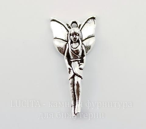 """Подвеска TierraCast """"Лесная фея"""" (цвет-античное серебро) 25х12 мм"""