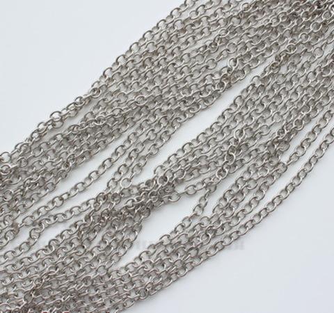 Цепь (цвет - античное серебро) 7х5,5 мм, примерно 10 м ()