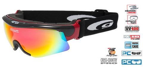 Очки-маска goggle линия PROVO black/red