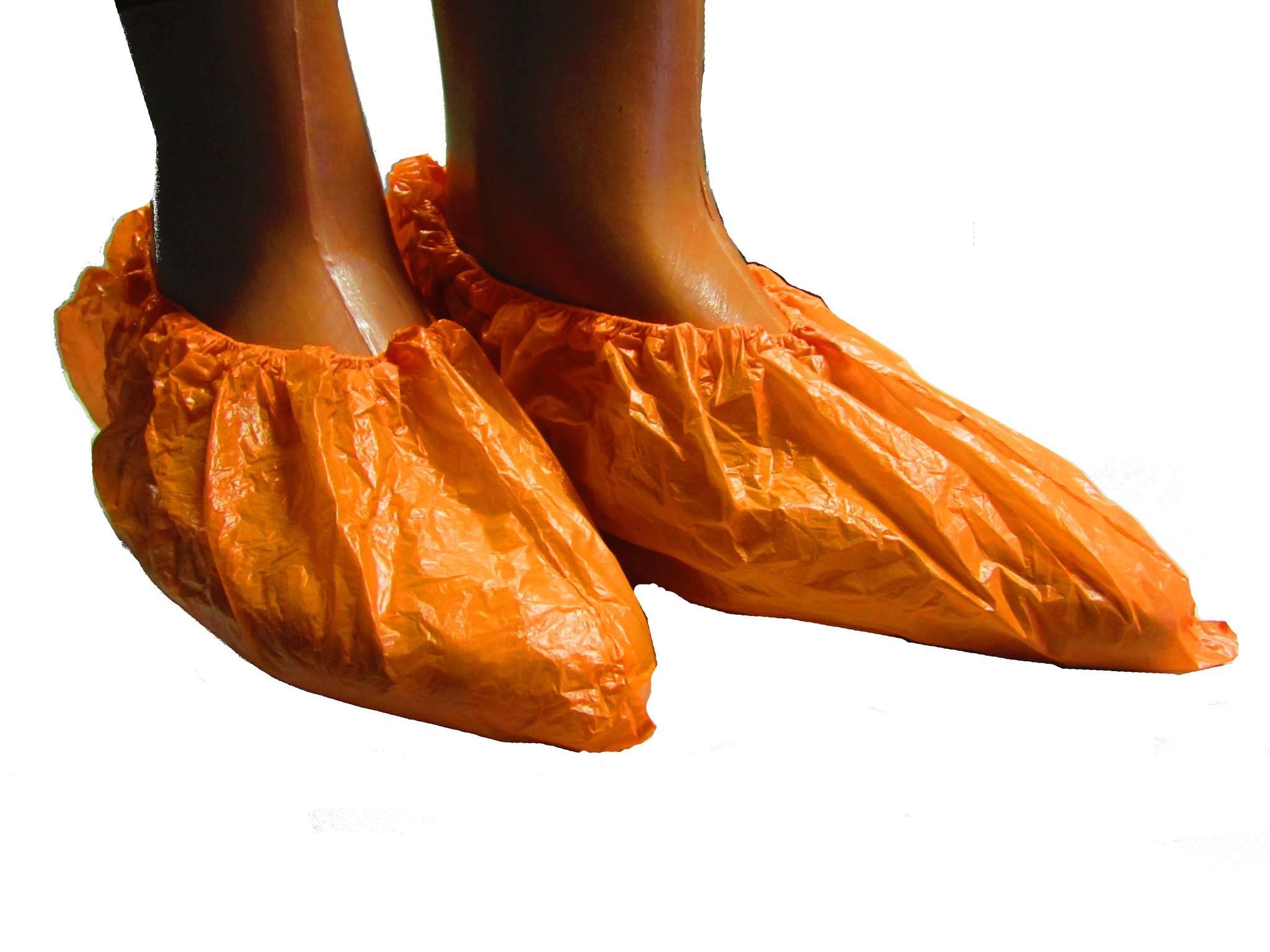 Бахилы ПНД, оранжевые