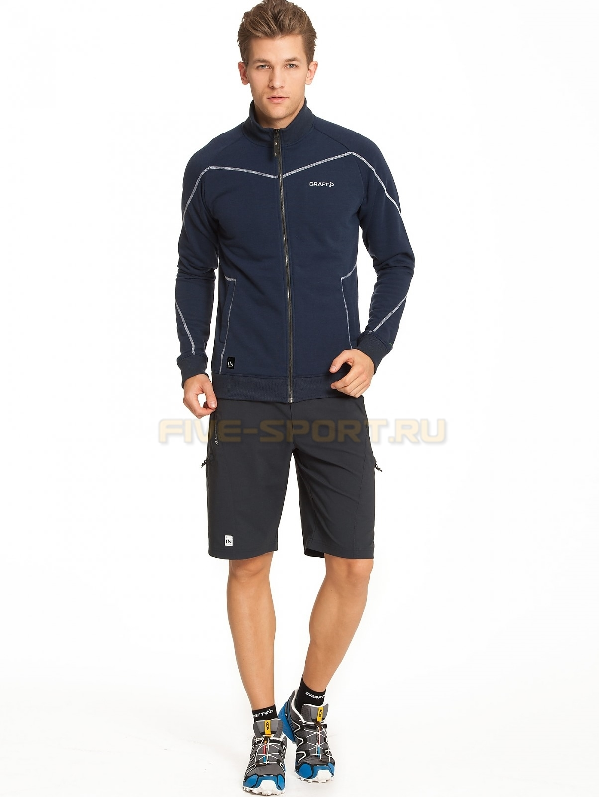 Мужская флисовая куртка крафт In the Zone синяя (1902636-2395) фото