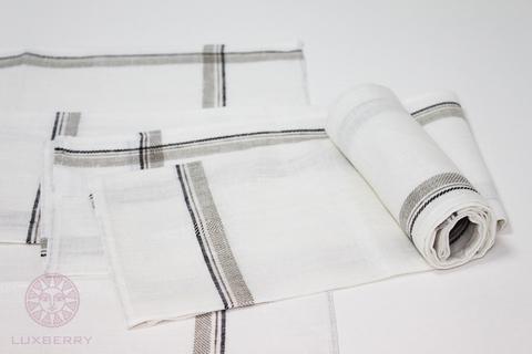Полотенце 50х70 Devilla Lille белое/льняное