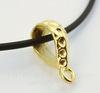 """Бейл TierraCast """"Hammertone"""" (цвет-золото) 18х10х6 мм"""