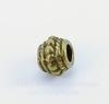 Бусина металлическая с узором (цвет - античная бронза) 8х6 мм, 10 штук