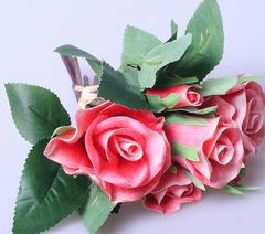 Букет роза малый красный (6 гол) 19658