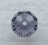 Бусина - рондель стеклянная сиреневая 11х8 мм