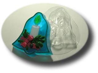 Рождественский колокольчик форма для мыла