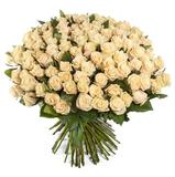 Букет из 101 кремовой розы/ 60 см.