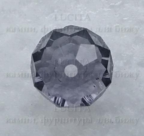 Бусина - рондель стеклянная сиреневая 11х8 мм ()