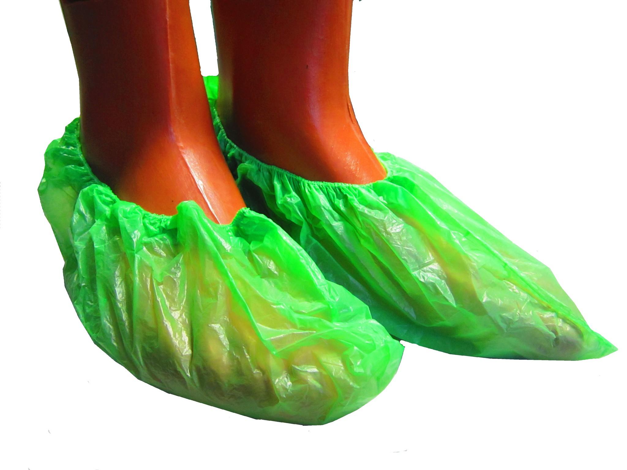 Бахилы ПНД, зеленые