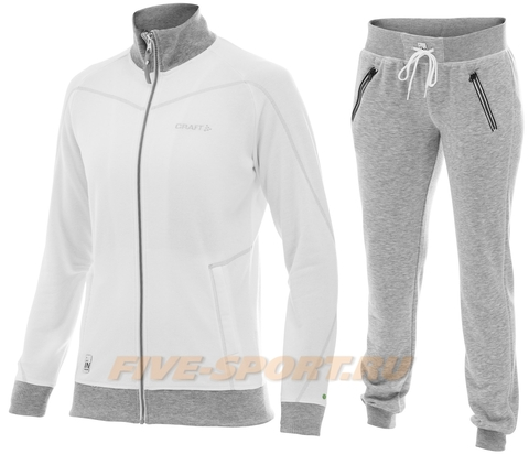 Костюм спортивный женский Craft In The Zone white для бега