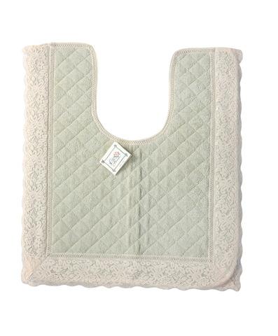 Элитный коврик для унитаза Валансье зеленый от Old Florence