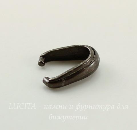 """Держатель для кулона TierraCast """"Nouveau"""" (цвет-черный никель) 12х8х4 мм"""