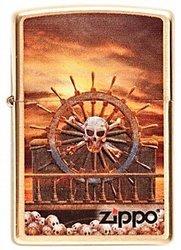 Зажигалка Zippo Skull & Wheel (204B)