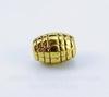"""Бусина металлическая овальная """"Сетка"""" 7х5 мм (цвет - античное золото), 10 штук"""