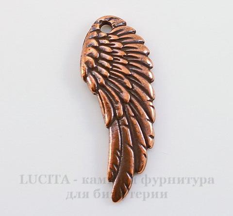 """Подвеска TierraCast """"Крыло"""" (цвет-античная медь) 28х11 мм"""