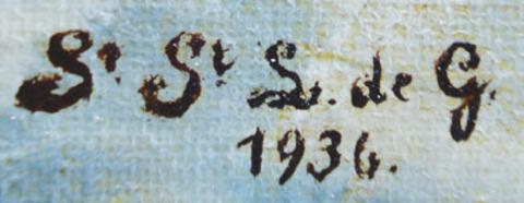 """Лесные гости. Подпись автора """"S.S.S de G"""". Арт. 03-0002"""