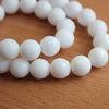 Бусина Жадеит (тониров), шарик с огранкой, цвет - белый, 10 мм, нить ()