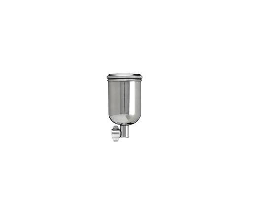 ANEST IWATA бачек боковой 130 мл, свободного вращения, нержавеющая сталь, фиттинг