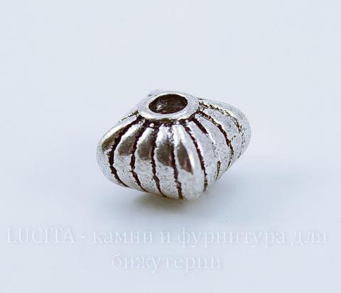 """Бусина металлическая """"Фонарик"""" 7х7 мм (цвет - античное серебро)"""