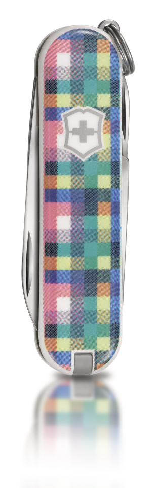 "Нож-брелок Victorinox Classic LE 2010, 58 мм, 7 функ, ""Pixel""  (0.6223.L1001)"