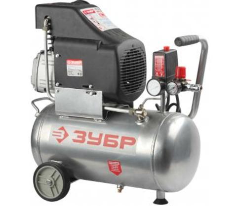 Компрессор ЗУБР электрический масляный, 1600 Вт, 210 л/мин, 2850 об/мин, 8 бар, 24 л