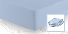 Элитная простыня трикотажная 8000 светло-голубая от Elegante
