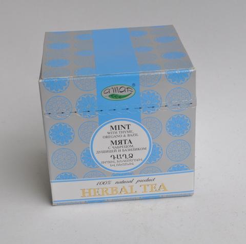 Чай травяной Мята с чабрецом, душицей и базиликом Амар, в пакетиках 20х2г