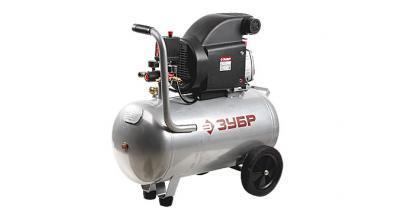 Компрессор ЗУБР электрический масляный, 2000 Вт, 270 л/мин, 2850 об/мин, 8 бар, 50 л